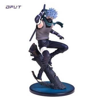 Naruto Sasauke ninja Anime  Action Figures Hatake Kakashi Ver2 Japanese Anime Statue Figurine For Kids gift Collectible Toy 23cm Doll AT_81_8