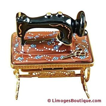 SEWING MACHINE W/STAND LIMOGES BOX