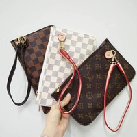 LV Fashion Trending Women Shopping Leather Tote Handbag Shoulder Bag Wallet Clutch Bag Wristlet Set Two-Piece Key Pouch G