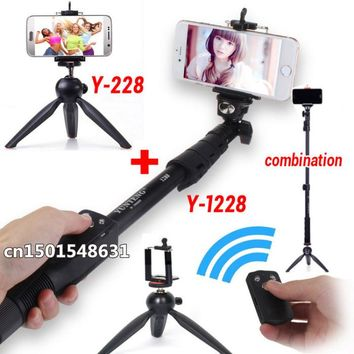 1288 Bluetooth Extendable Handheld Monopod Tripod with Shutter remote+228 Portable Holder For Cameras ,Cell phone