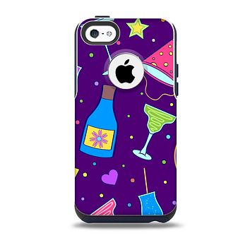 The Bright Purple Party Drinks for the iPhone 5c OtterBox Commuter Case