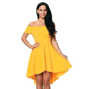 Yellow All The Rage Skater Dress