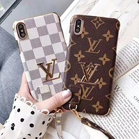 LV Louis Vuitton Fashion New Monogram Check Women Men Protective Cover Phone Case