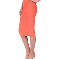 BCBGMAXAZRIA Lager High Waist Power Skirt