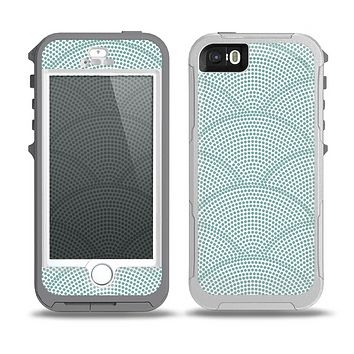 The Teal Circle Polka Pattern Skin for the iPhone 5-5s OtterBox Preserver WaterProof Case
