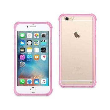 REIKO IPHONE 6/ 6S/ 7 CLEAR BUMPER CASE WITH AIR CUSHION PROTECTION IN CLEAR HOT PINK