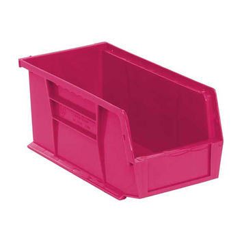 Quantum Storage System Ultra Stack And Hang Bin Pink 10-7/8Lx 5-1/2Wx 5H Pack of 12