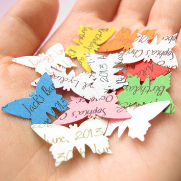 1000 Personalised Butterfly Confetti / Customized Butterflies / Various Colour Choices / Wedding, Table Decor