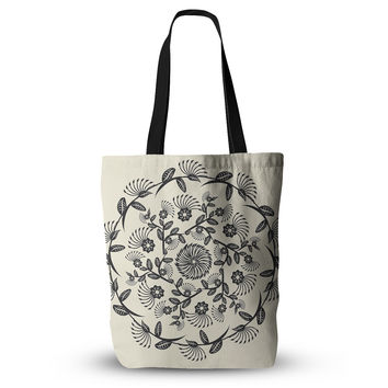 "Famenxt ""Black & White Decorative Mandala"" Geometric Everything Tote Bag"