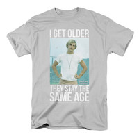 Dazed And Confused Men's  I Get Older T-shirt Silver Rockabilia