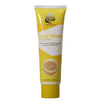 MADINA FACE WASH LEMON HELPS CONTROL EXCESS OIL 3.5 OZ