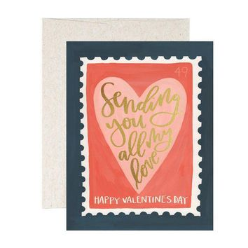 Valentine's Day Heart Stamp Card