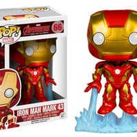 FUNKO POP Marvel the  Avengers Iron Man Mark 43 #66 PVC Action Figure Collectible Model Toy 10cm hwd