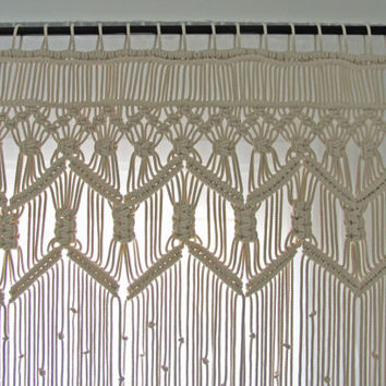 Macrame Bohemian Curtains Boho Wedding Backdrop Large Room Divider Summer Beach Weddin