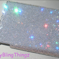 Crystal Clear Diamond Rhinestone BLING Case for Apple iPad 3 made with Swarovski Elements