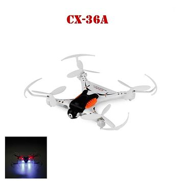 New Wifi 4CH 2.4G Mini Drone with Night Light Remote Control RC Helicopter Aircraft Dron Flying Toy for Cheerson CX-36A