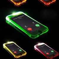 Soft TPU LED Flash Light Up Remind Incoming Call Cover For Samsung Galaxy J1 J3 J5 J7 2016 A3 A5 A7 2017 S6 S7 Edge S8 Plus Case