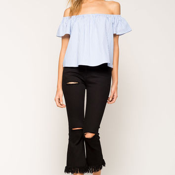 Ariana Stripe Off Shoulder Top