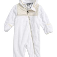 The North Face Oso Hooded Fleece Romper (Baby) | Nordstrom