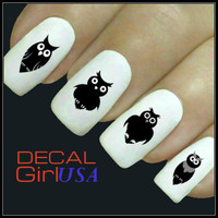 Owls Nail Art Decals 32 Owls Nail Decals