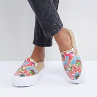 ASOS DESIGN Dana Embroidered Sneakers at asos.com