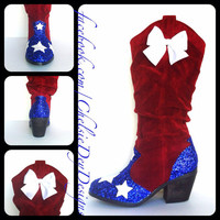 American Honey Glitter Cowgirl Boots