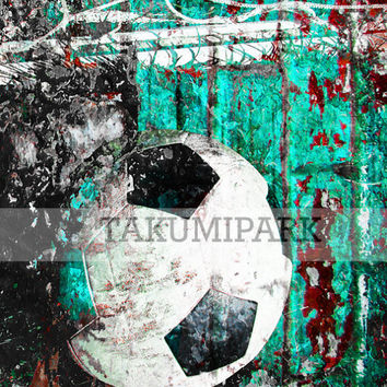 Gift For Soccer Player, Sports Wall Art Print, Photo Print, Mancave, Bedroom Decor, Soccer Poster Print,Poster Art Sports Prints, Soccer Art