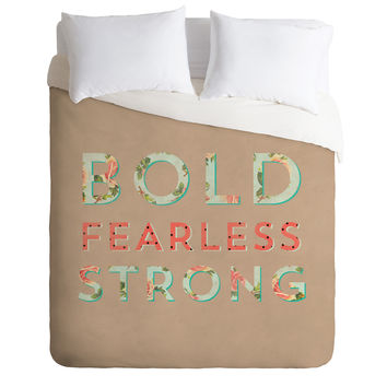 Allyson Johnson Bold Fearless And Strong Duvet Cover
