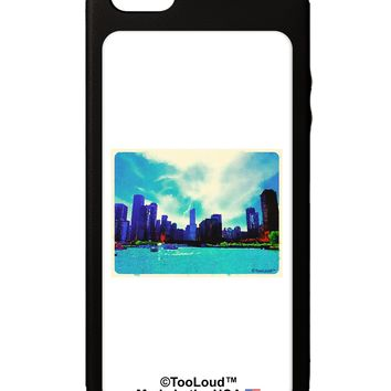 Chicago Skyline Watercolor iPhone 5C Grip Case  by TooLoud