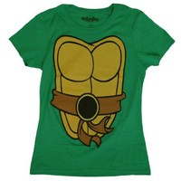 TMNT Teenage Mutant Ninja Turtles Green Costume Juniors T-shirt Tee