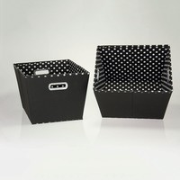 Household Essentials 2-pk. Storage Bins (Black)