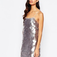 8th Sign | The 8th Sign All Over Large Sequin Minimum Dress at ASOS