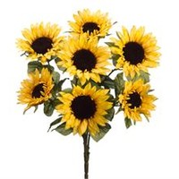 "24"" Sunflower Bush x7 Yellow (Pack of 12)"