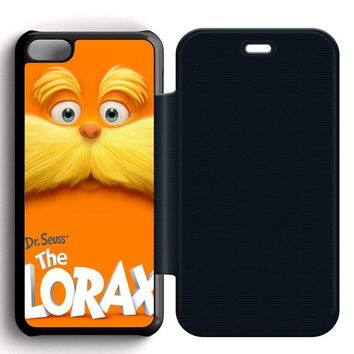 Dr Seuss Lorax Face Leather Wallet Flip Case iPhone 5C