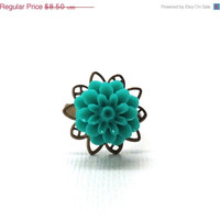 Mothers Day Sale Teal Mum Ring