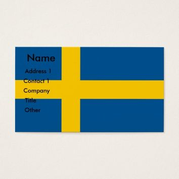 Business Card with Flag of Sweden