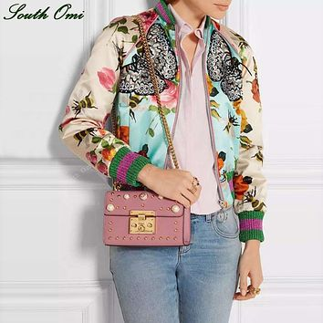 Women's Butterfly Vintage Print Embroidery Bomber Jacket
