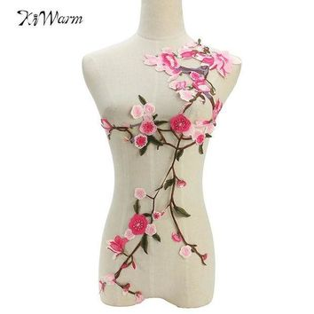 MDIGON Plum Blossom Flower Applique Clothing Embroidery Patch Fabric Elegant Sewing Craft For Clothes Jeans  Accessories DIY Decoration
