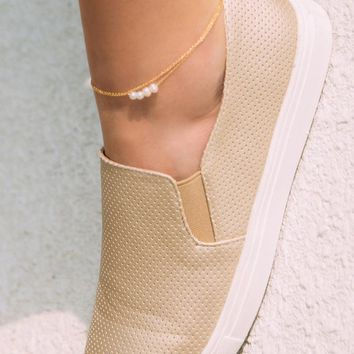 Arianna Pearl Anklet