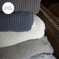 Handmade Chunky Crochet Knit Throw