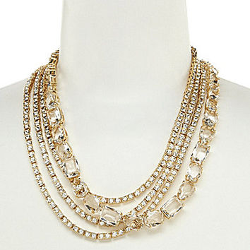 kate spade new york Draped Jewels Multi-Strand Necklace - Clear