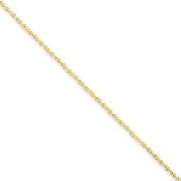 1 mm, Rope Bracelet in 14k Yellow Gold, 7 Inch