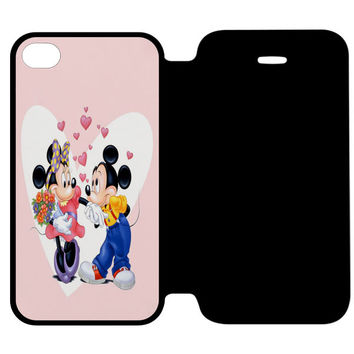 Mickey Mouse and Minnie Mouse in The Park iPhone 4 | 4S Flip Case Cover