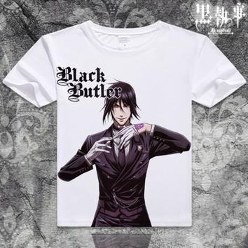Black Butler Short Sleeve Anime T-Shirt V13
