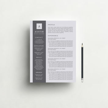 Resume Template with Free Cover Letter for Word - Professional and Modern Resume Design, Teacher Resume, CV Template, CV, Black - Mac or Pc