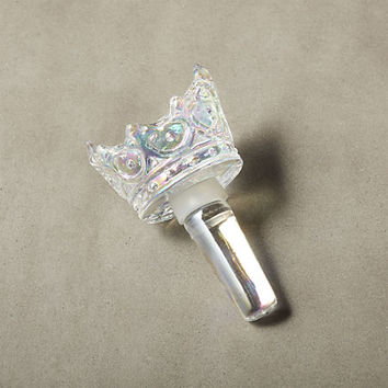 your highness iridescent crown bottle stopper