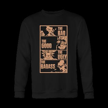 Super Saiyan - The good the bad the ugly the badass - Unisex Sweatshirt T Shirt - TL01103SW