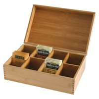 Lipper International Bamboo Tea Box