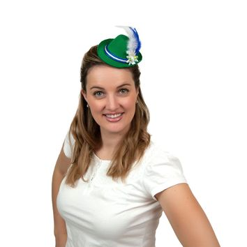 Mini Green Bavarian Felt Hats Oktoberfest Costume Idea