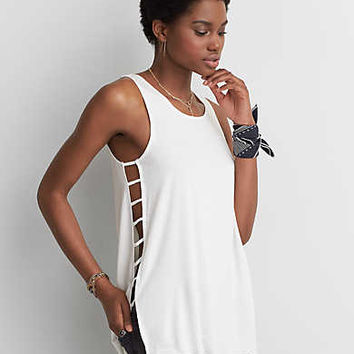 AEO Soft & Sexy Side Bar Tank , Natural White